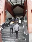 Eingang: Treppen zum Eingang