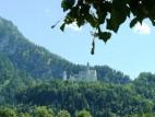 Blick auf das Schloss von Schongau aus