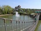 Hängebrücke und Burg Rauhe Klinge