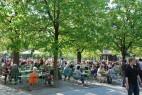 Biergarten im Englischen Garten in München